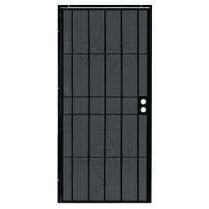 Security Doors First Alert Doors Charleston 36 In X 80 In Black St