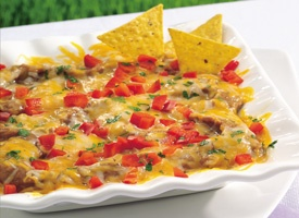 Hot Cheesy Bean Dip | Appetizers | Pinterest