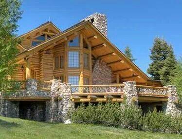 Amazing Log Homes Pinterest