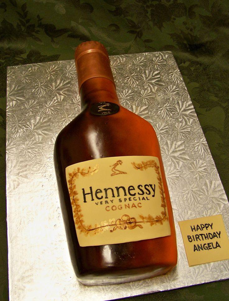 Hennessy bottle cake | Happy Hour | Pinterest