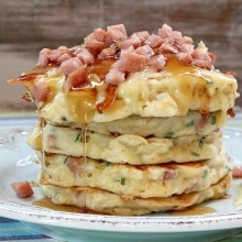 Ham and Swiss Griddle Cakes | Breakfast | Pinterest