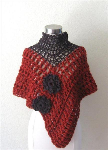 Crochet Patterns Triangle Shawl : crochet-triangle-shawl Crochet - Ponchos, Shawls and Vest Pintere ...