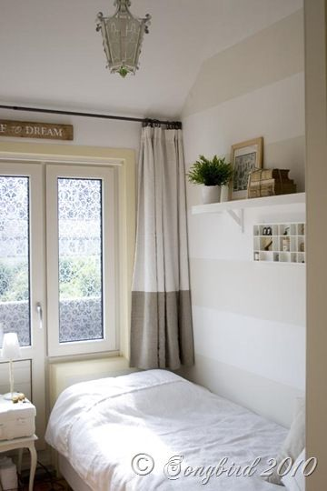 small guest bedroom white linen