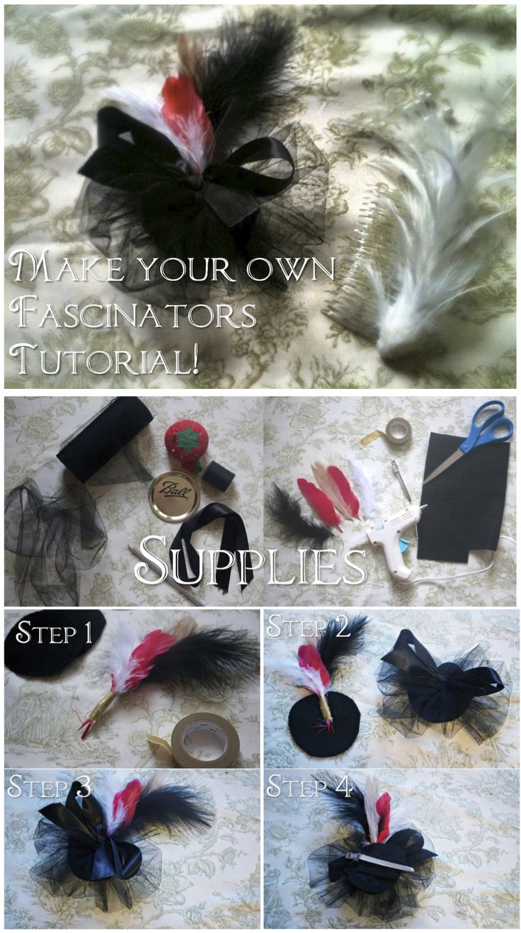 One of many super easy ways to make a fascinator.