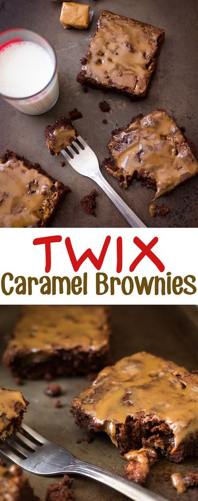 Twix Caramel Brownies in 40 minutes! | littlespicejar.com