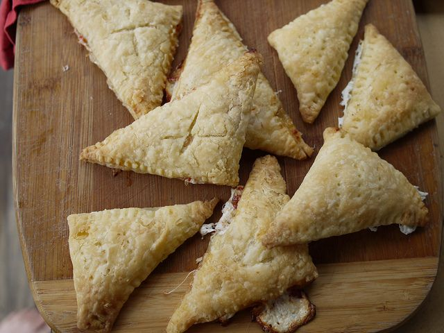 Mozzarella-tomato jam hand pies by grongar, via Flickr