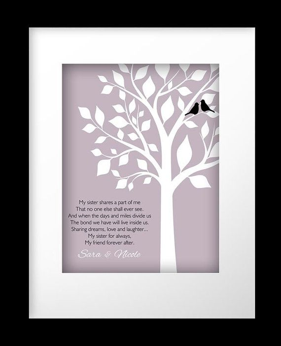 A Special Wedding Gift For My Sister : Sister Gift Personalized Gift for Sister Wedding Gift for Sister Birt ...