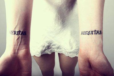 Boondock saints tattoo veritas and aequitas tatts for Veritas aequitas tattoos