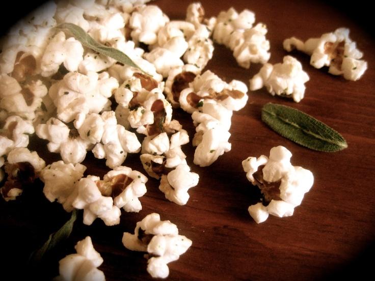 Lemon-Butter Sage Popcorn | New Recipe Adventures! | Pinterest