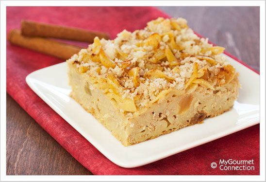 Cinnamon-Raisin Noodle Kugel from MyGourmetConnection