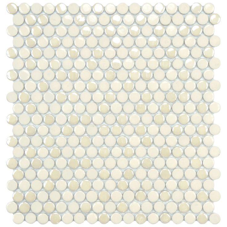 penny tile backsplash not exact color but close