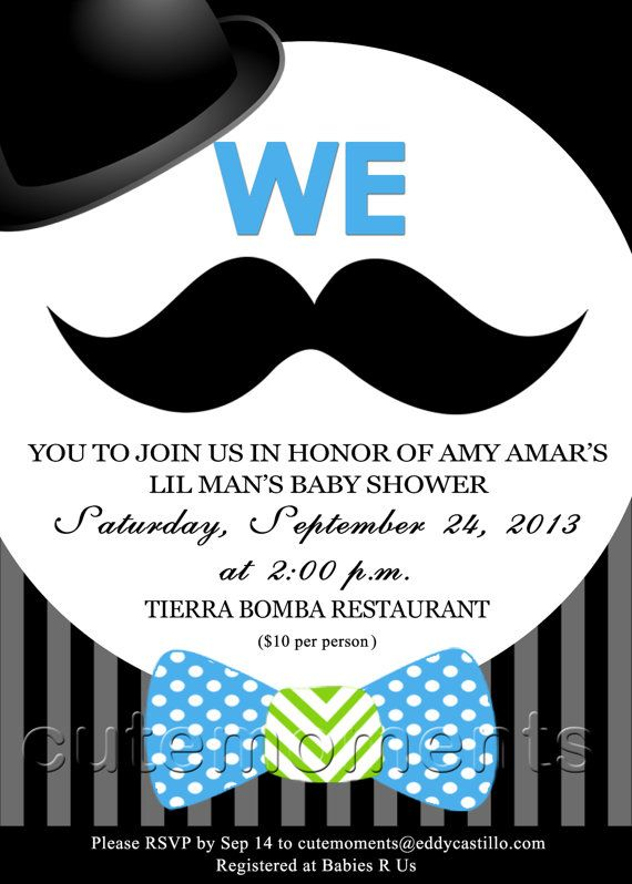 mustache baby shower invitation by cutemoments on etsy