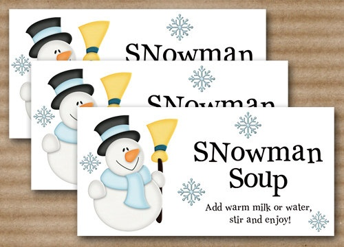 Snowman Soup Christmas Treat Bag Topper - INSTANT DOWNLOAD - Printable ...