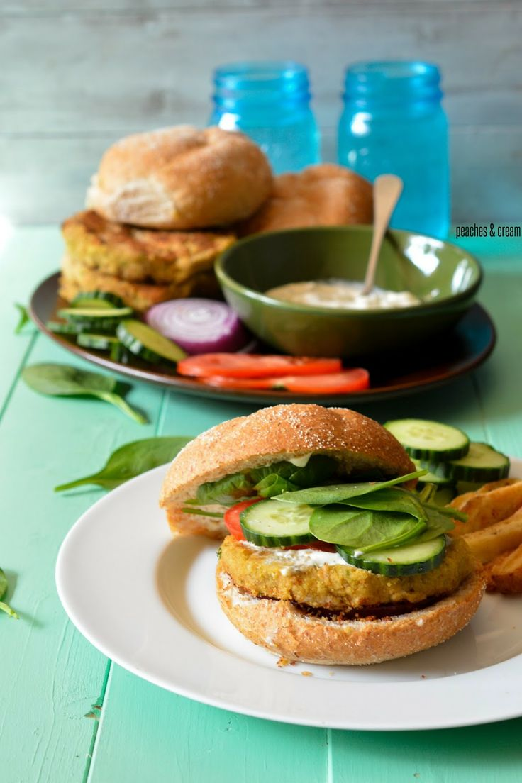 Chickpea Burger | Recipes to Try | Pinterest