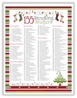 155 Stocking Stuffer Ideas with Free Printable List