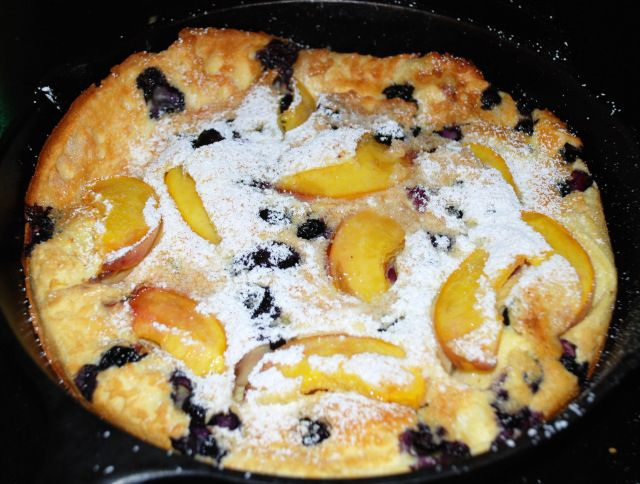 Blueberry Peach Dutch Baby | Camping | Pinterest