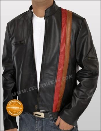 Red Stripe Cyclops Scott Leather Jacket | Leather Jackets | Pinterest