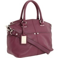 tignanello purple polished pocket satchel
