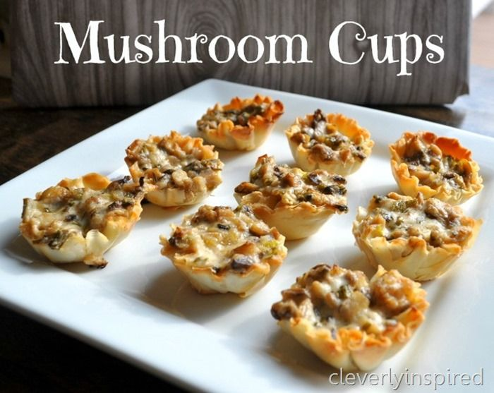 super bowl food ideas appetizers | mushroom-cups-appetizer-recipe ...