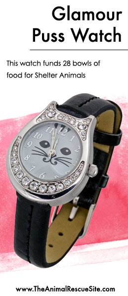 Show your inner Sparkle Kitty! This watch purchase feeds 28 shelter animals @ The Animal Rescue Site. Shop the Cause: www.Shop2Give.us/Glamour-Puss