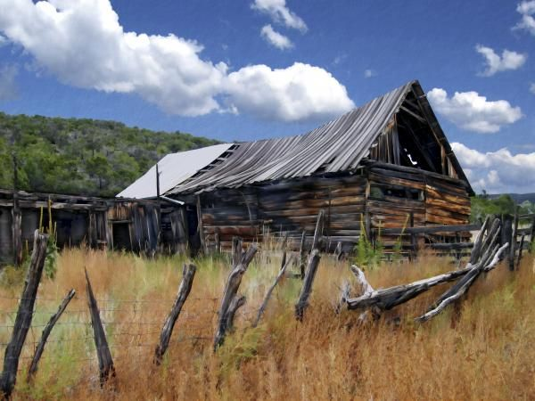 old barns -
