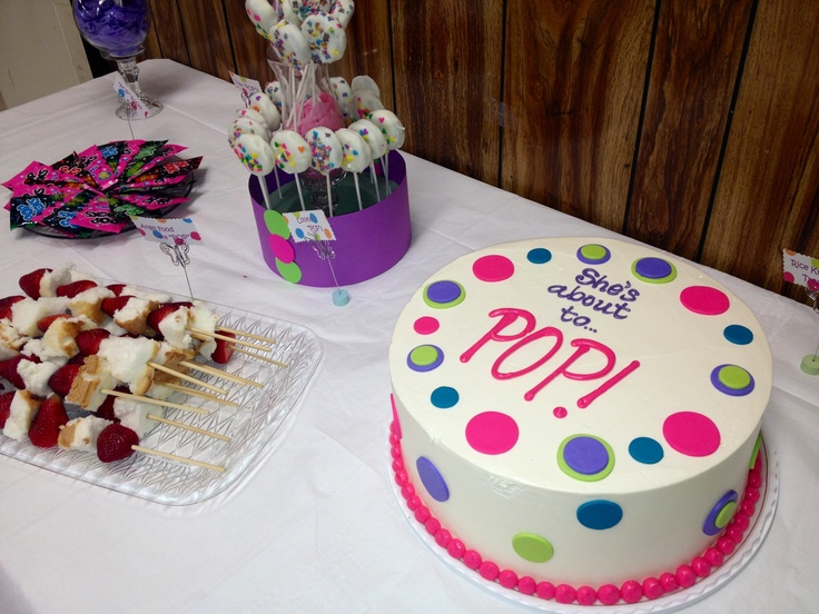 she 39 s about to pop baby shower cake baby shower pinterest