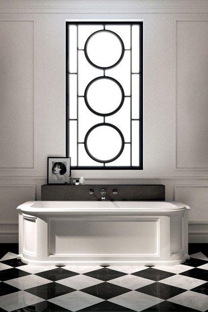 Bathroom Design Ideas Art Deco Inspired Black And White Design