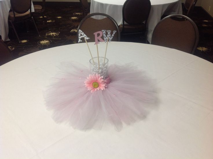 center pieces for tutu themed baby shower party ideas pinterest
