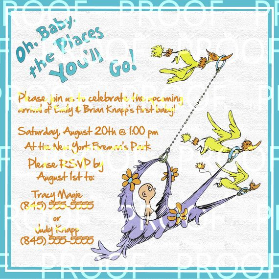 Dr Seuss Baby Shower Invites with adorable invitation layout