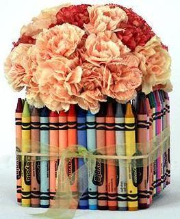 crayon vase centerpiece