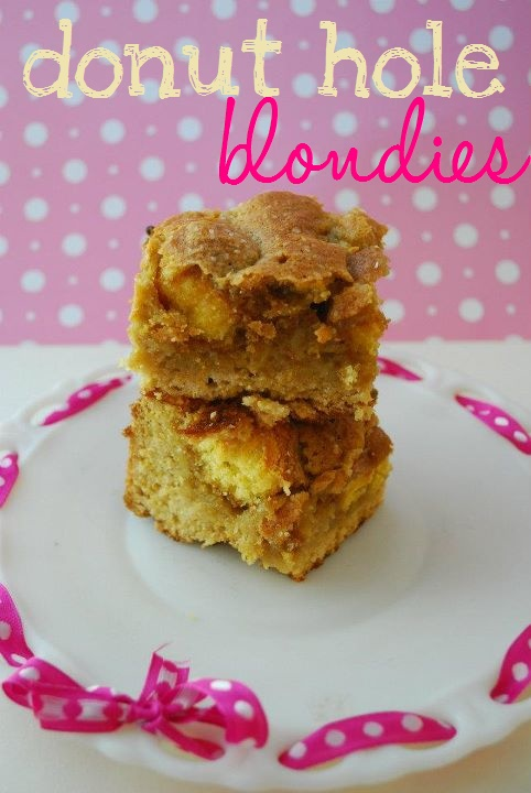donut hole blondies | ~DoUgHnUtS~BeIgNeTs&FuNnEl CaKeS~ | Pinterest