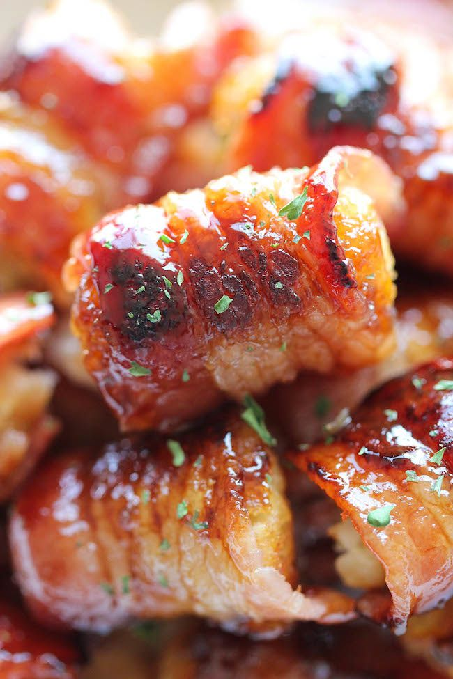 Bacon Wrapped Tater Tot Bombs - The most amazing tater tots ever. It's ...