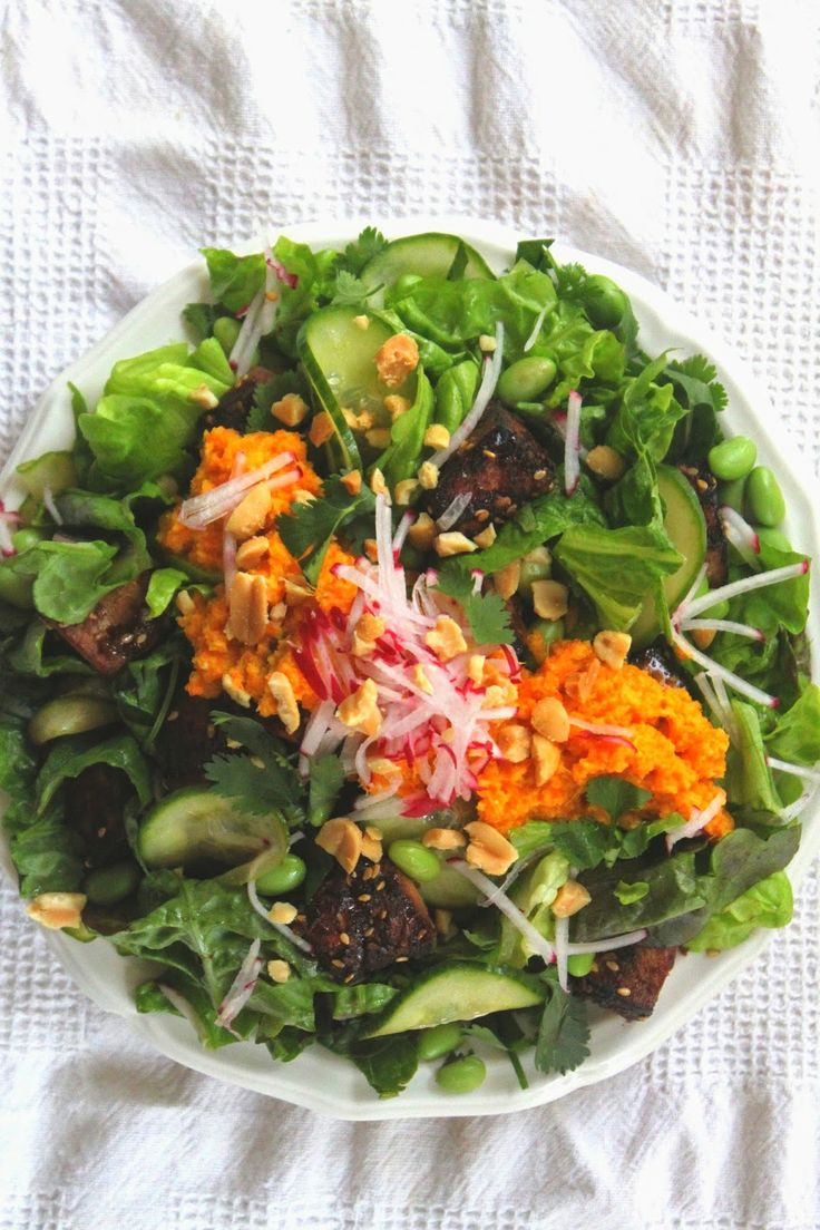 Mì Salad with Marinated Tofu and Japanese Ginger-Carrot-Miso Dressing ...