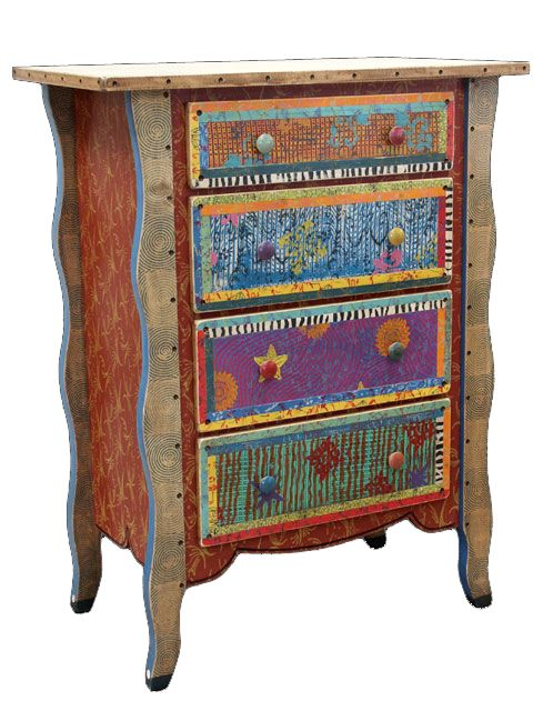 Hand Painted Dresser By Ralph Garrett A LITTLE PAINTED WHIMSY