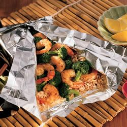 Shrimp and Broccoli Packets from Allrecipes (http://punchfork.com ...