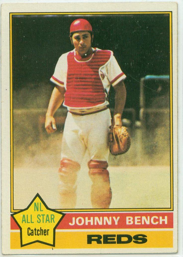 1976 Topps Johnny Bench Baseball Cards Pinterest