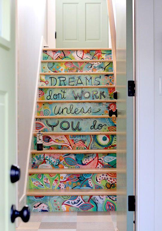 cool-stairs-paint-design.jpg (540×771) | Art | Pinterest