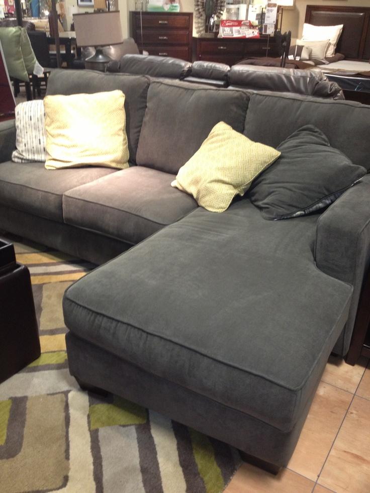 Gray Comfy Sofa At Ashley Furniture Morning Room