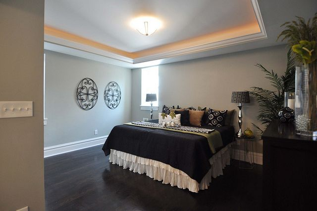 tray ceiling accent lighting bedroom pinterest