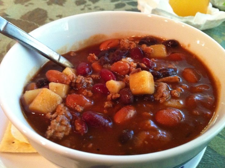 Three Bean Turkey Chili | Cookingwithatwist Blog | Pinterest