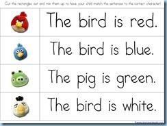 Angry bird printables some math and some reading pre k k early