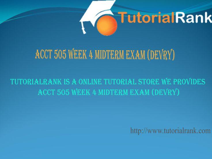 acct 505 midterm