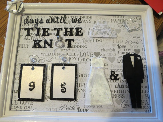 1 Year Countdown Wedding Gift : Wedding Calendar Countdown Wedding/engagement gifts Pinterest