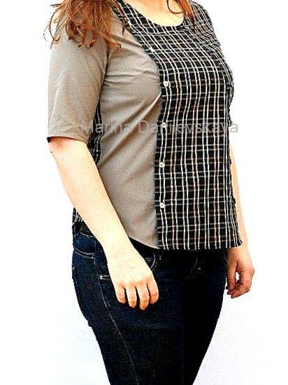 Как увеличить размер блузку своими руками 611