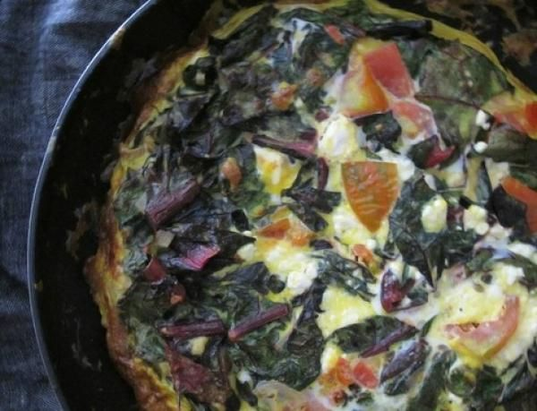 Frittata With Swiss Chard, Heirloom Tomatoes And Feta | KitchenDaily ...