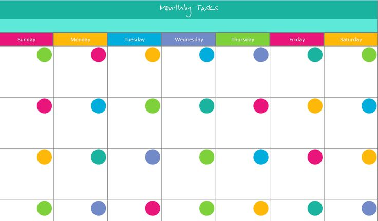 Monthly Calendar Customizable | Calendar Template 2016