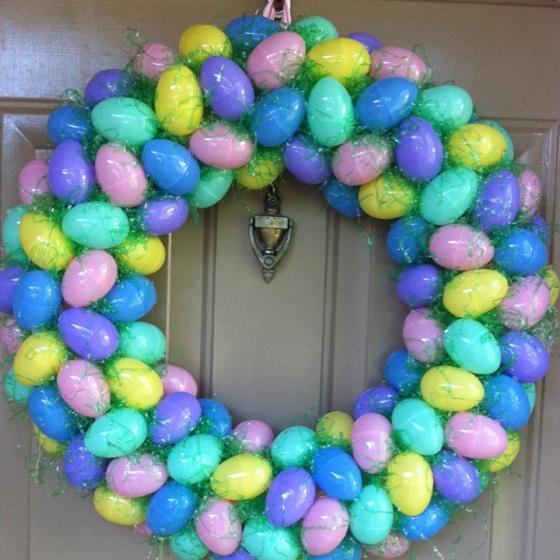 Easter egg wreath   Wreaths   Pinterest