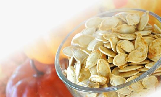 up the seeds! Toasted Pumpkin Seeds VIDEO: Roasting Pumpkin Seeds ...