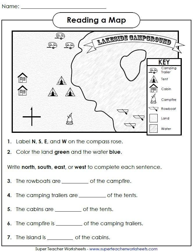 Gallery For u0026gt; Map Key Worksheet 2nd Grade