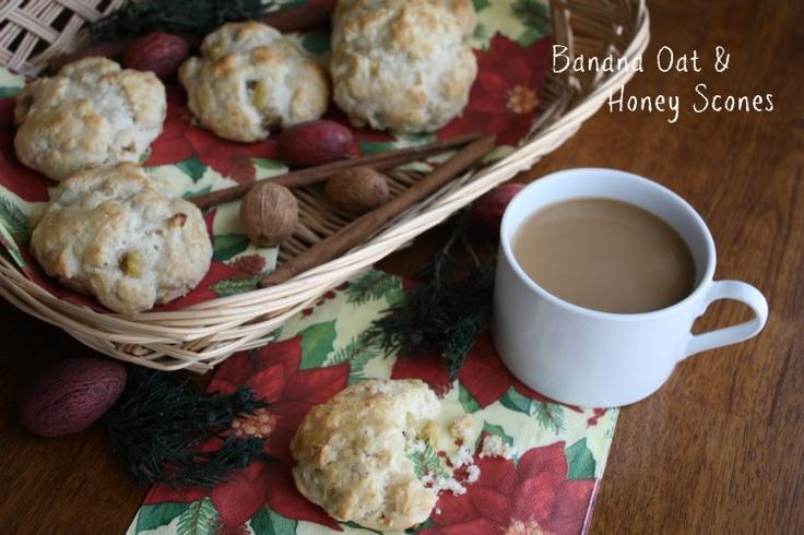 Banana Oat & Honey Scones Recipe | Do It Yourself | Pinterest